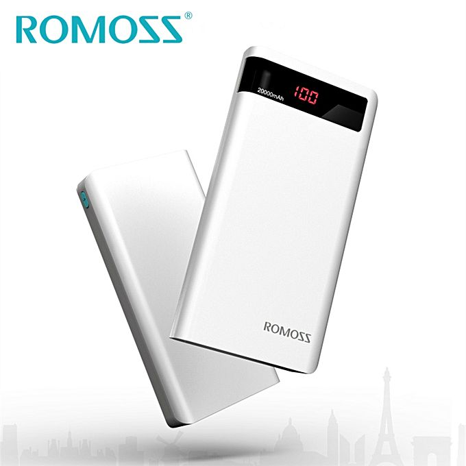 ROMOSS Power Bank 20000mAh Portable Charger for iPhone 7 Samsung