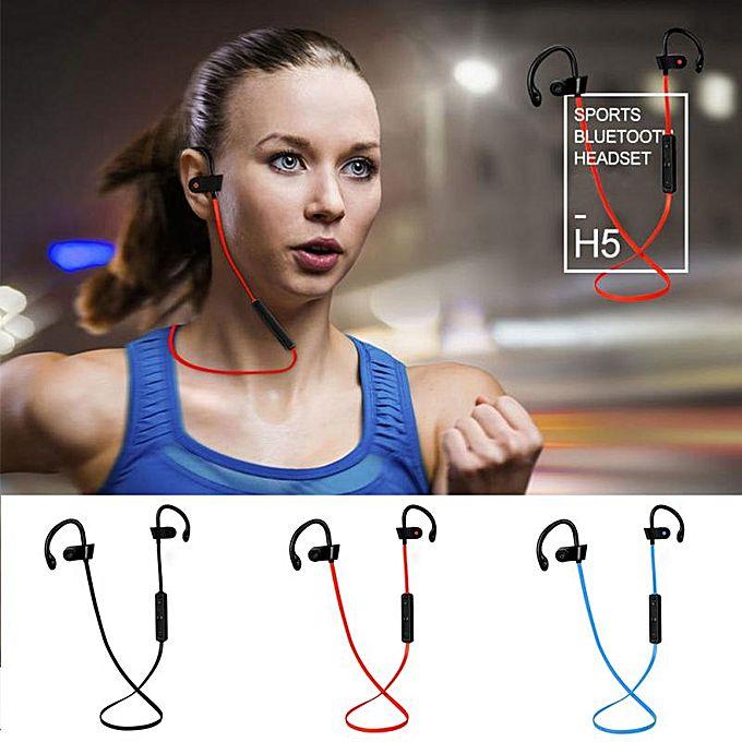 H5 Bluetooth Earphone Sports Running Wireless Headset