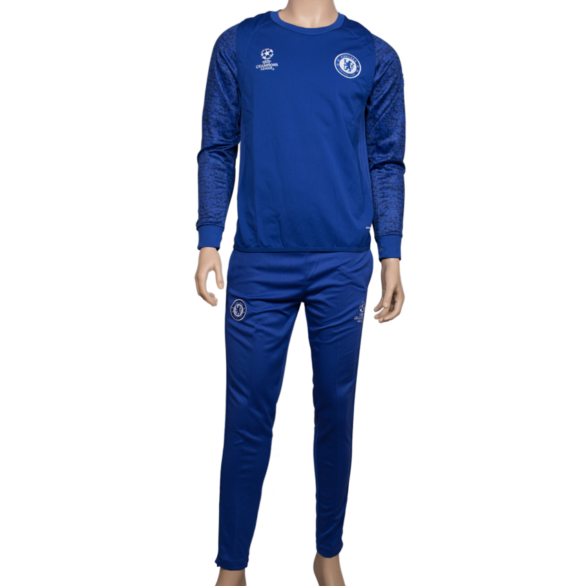 Team Chelsea Champions League Full Sleeve Traning Kit with Trousers (Unisex)