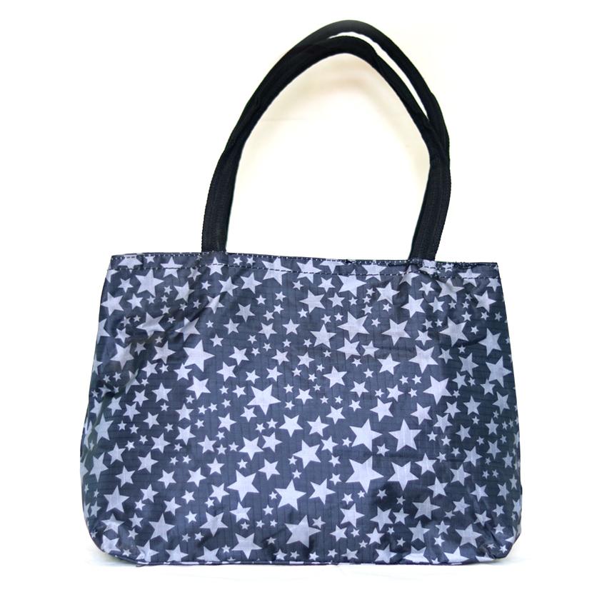 star pattern duel handle shoulder bag