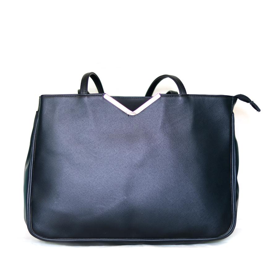 dotted pattern flat top long slim handle bag
