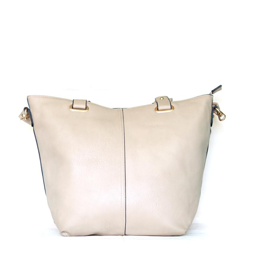 soft solid pattern lining shoulder bag