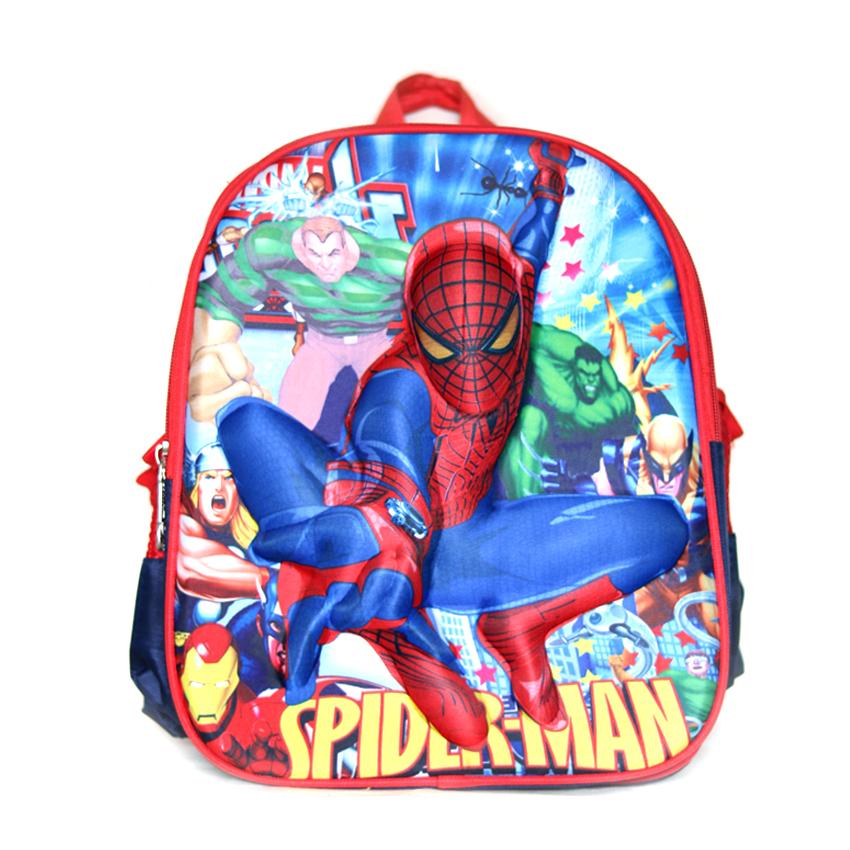 spider man Printed red bag pack