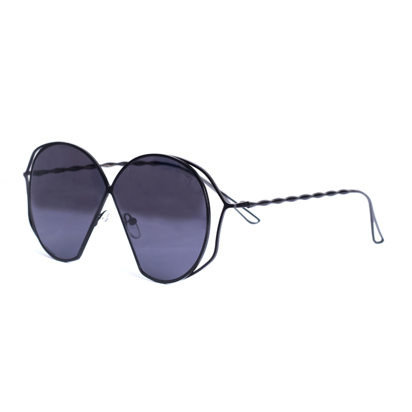 785700eab833 Black and stylish twisted metal templed CHANEL Sunglass-Raramart ...