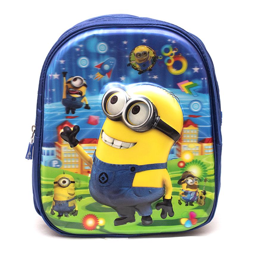 Minions Star Cartoon Theme Kids Scool Bag - Blue
