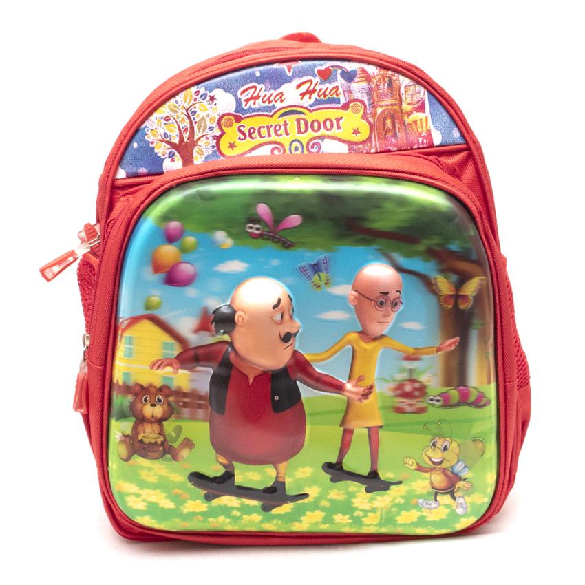 Motu Patlu Kids School Bags - Red