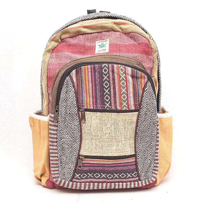 b20a37fce77a Pure Hemp Nepali Hand made Neplease Backpack 03-Raramart Nepal ...