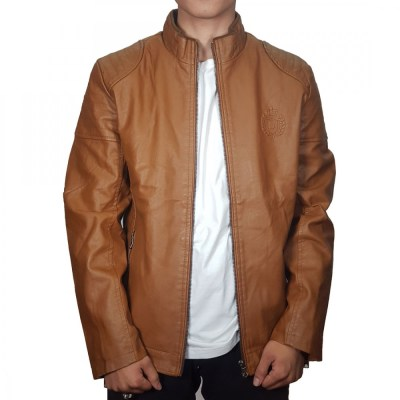Brown Leather Jacket With FUR Inside For Men