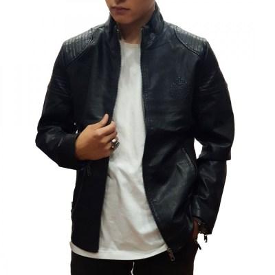 Black Leather Jacket With FUR Inside For Men