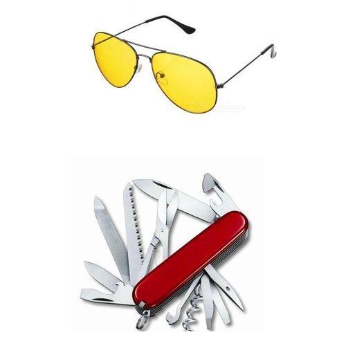 2762e103b1 Combo of (Swiss Knife   Yellow Night Vision Sunglass)-Raramart Nepal ...