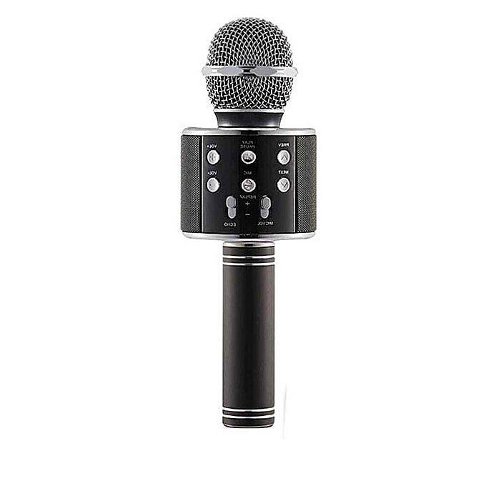WS-858 Wireless Bluetooth HiFi Karaoke Microphone - Black