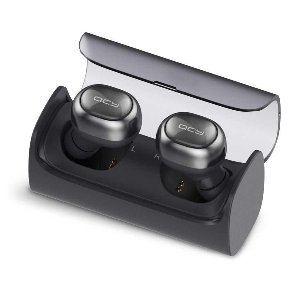 QCY Q29 Mini Dual Wireless Earbuds V4.1 Bluetooth Headphones With Charging Case And 12 Hours Stereo Music (Black)