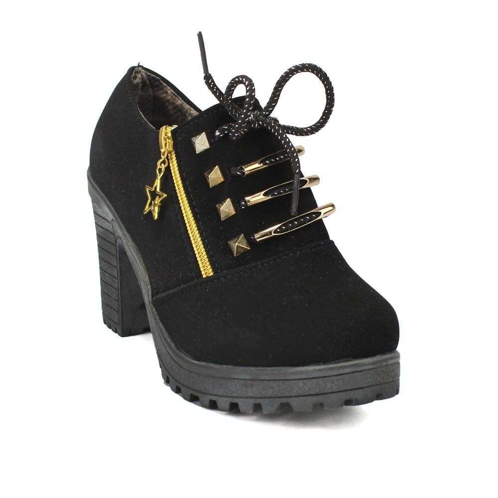 Ankle Block Hill Shoes For Women
