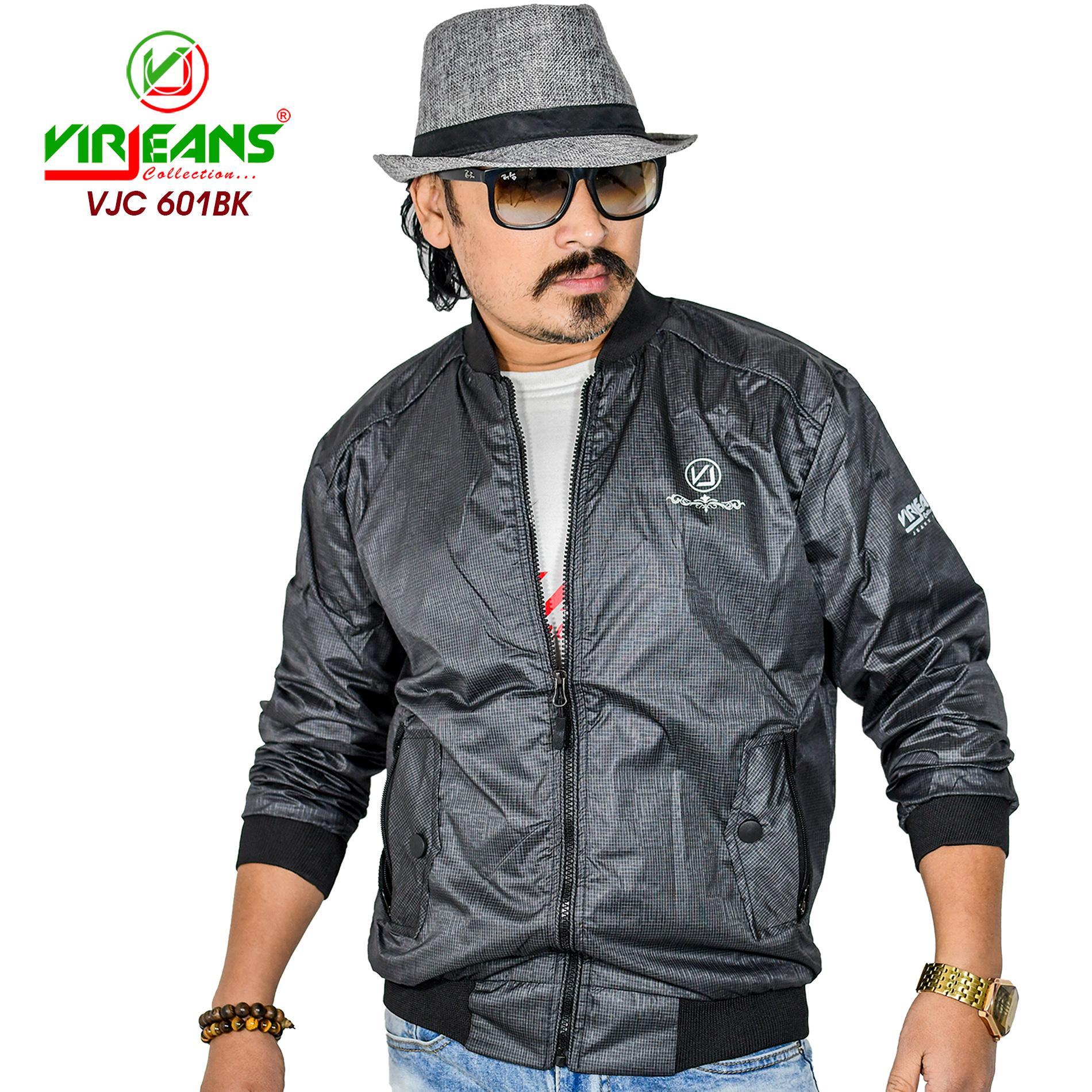 Virjeans New Fall Fashion Casual Zipper Round Neck Collar Slim Streetwear Bomber Jacket Windcheater (VJC 601)