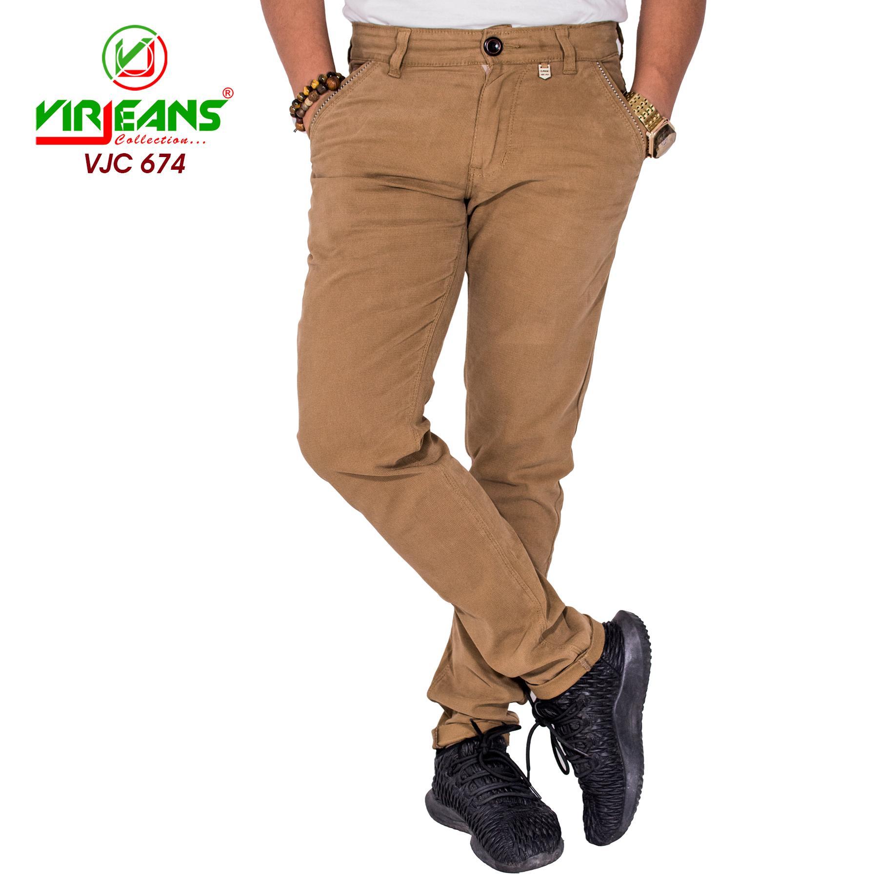 Virjeans Stretchable Twill Cotton Skinny Choose Pants For Men (VJC