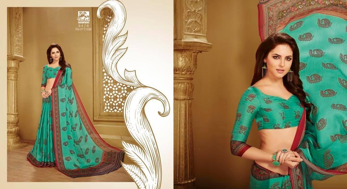Light Green Designer Cotton Silk Saree For Women