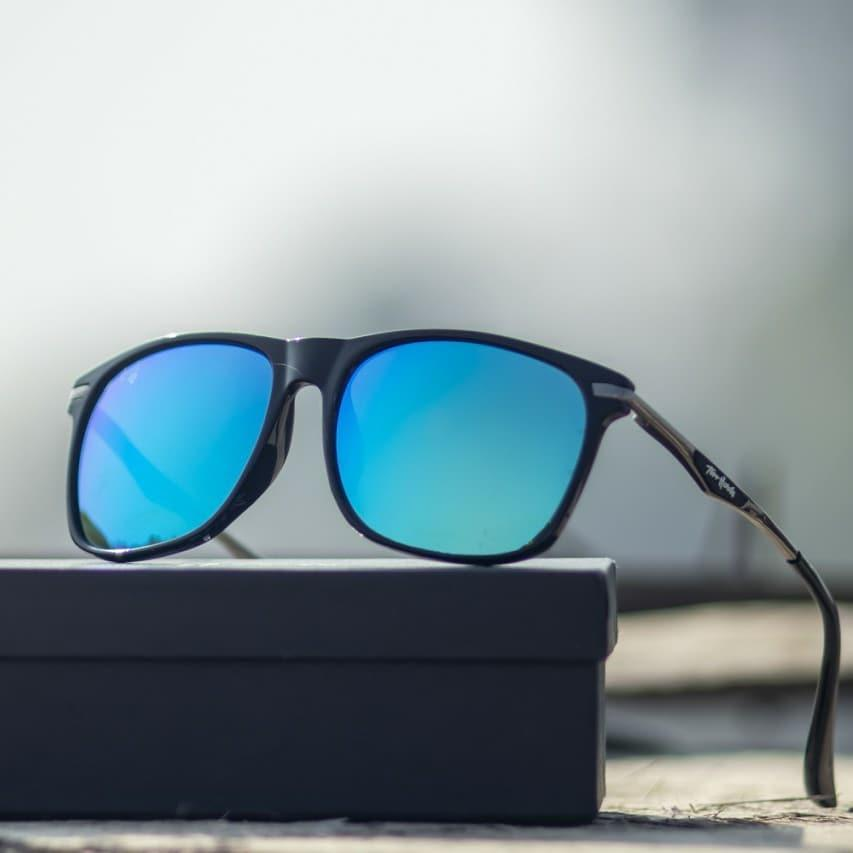 Funky 2019 Unisex Vintage Retro Glasses mercury Mirror Lens Summer Sunglasses