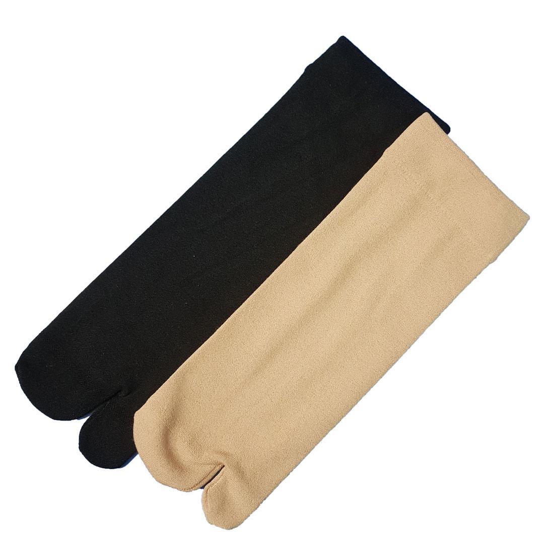 Pack of 2 Finger Skin Socks Fleece Inside For Women