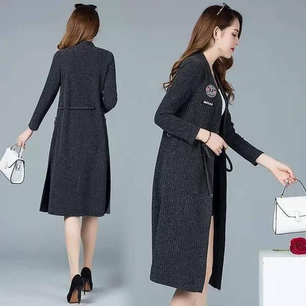 Winter wear warm long  belly outer for women