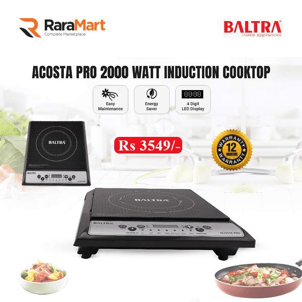 Baltra Acosta Pro 2000 Watt Induction Cooktop (Black)