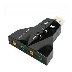 Double Sound Card Virtual 7.1 Channel USB 2.0 Audio Adapter