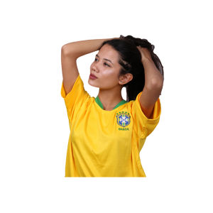 Brazil Home High Quality Non Printed Jersey