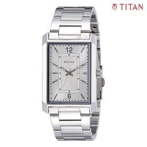 Titan 1697SM01 White Dial Analog Watch For Men