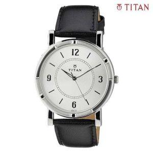 Titan 1639SL03 Karishma White Dial Analog Watch For Men- Black