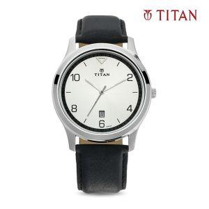 Titan 1770SL01 White Dial Analog Watch For Men - (Black)