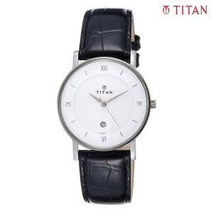 Titan 9162SL04 Leather Strap Analog Watch For Men