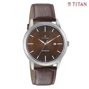 Titan 1584SL04 Brown Dial Analog Watch For Men