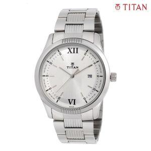 Titan 1739SM01 Silver Dial Analog Watch For Men