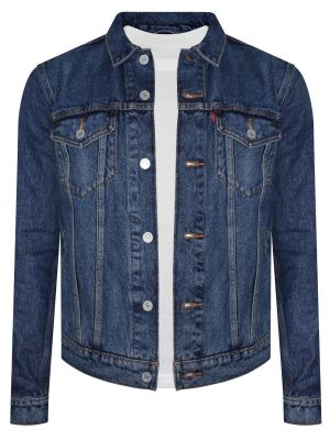 Levis Blue Denim Trucker Light Winter Jacket For Men (24869-0025)