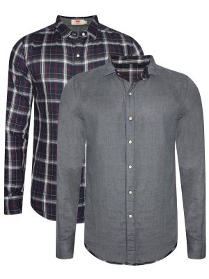 Levis Navy And Grey Reversible Casual Shirt For Men (28697-0032)