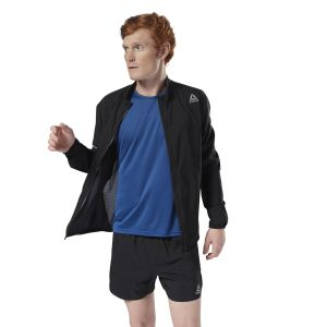Reebok Black Running Woven Jacket For Men - (CY4705)