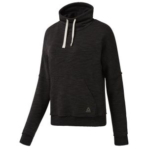 Reebok Black Elements Marble Cowl Neck Sweatshirt For Women - (D95546)