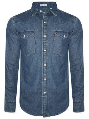 Levis Blue Casual Denim Shirt For Men (17621-0074)