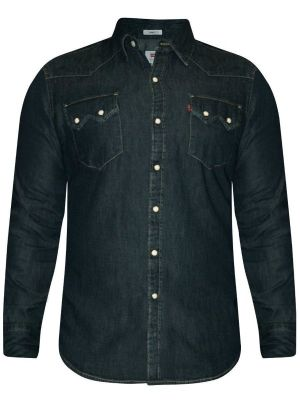 Levis Navy Blue Casual Denim Shirt For Men (18259-0012)