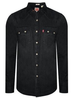 Levis Black Casual Denim Shirt For Men (18259-0025)