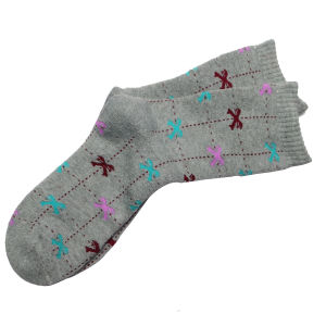 Fancy Printed Grey  Color Socks