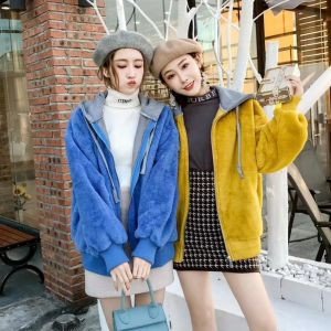 Hoodie For Women Blue/Yellow