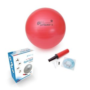 66fit Gym Ball with pump & DVD - Red - 45cm