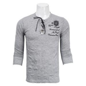 Full Sleeve Wrinkled T-Shirt - Grey