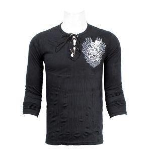 Full Sleeve Wrinkled T-Shirt - Black