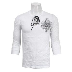 Full Sleeve Wrinkled T-Shirt - White