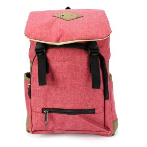 Pink Polyester Front Clip Backpack (Unisex) - 328