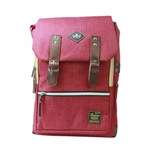 Pink Multi Zippered Flap Backpack For Women- 6001