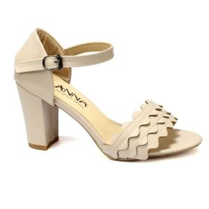 Apricot Ankle Strap Heels For Women