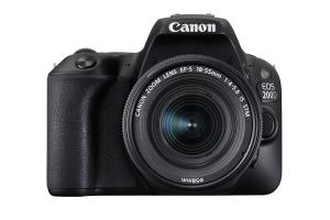 Canon EOS 200D Rebel SL2 Kit with EF-S 18-55mm f/4-5.6 is STM Lens Digital SLR Cameras (Black) (International Model No Warranty)