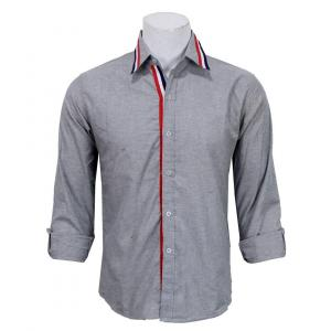 Slim Fit Casual Shirt- Grey